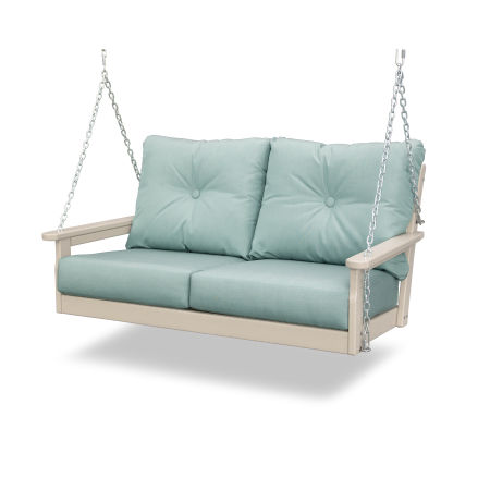 Vineyard Deep Seating Swing in Sand / Spa