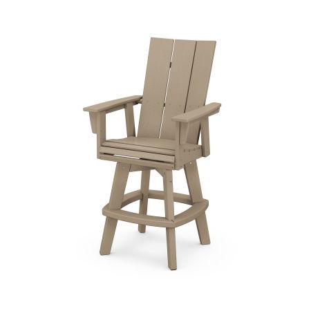 Modern Adirondack Swivel Bar Chair in Vintage Sahara