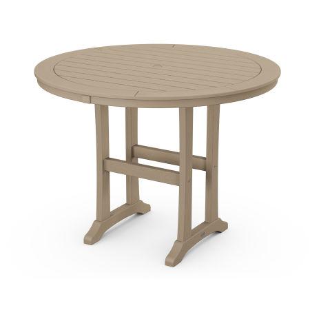 "Nautical Trestle 48"" Round Counter Table in Vintage Sahara"