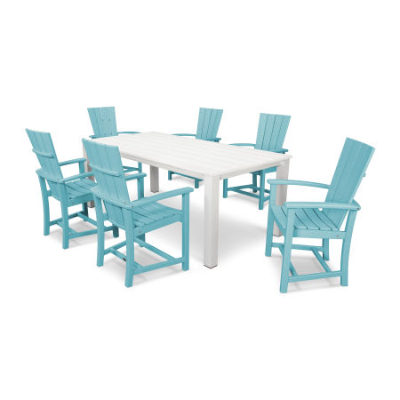 Quattro 7-Piece Dining Set  in Aruba