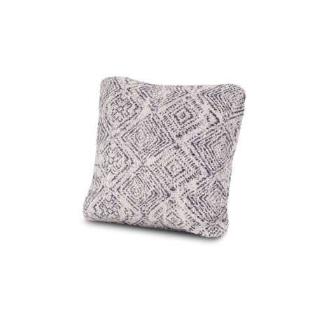 "18"" Outdoor Throw Pillow in Leona Indigo"