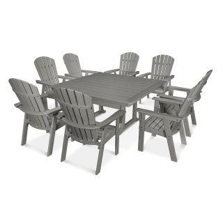 Nautical Adirondack 9-Piece Trestle Dining Set