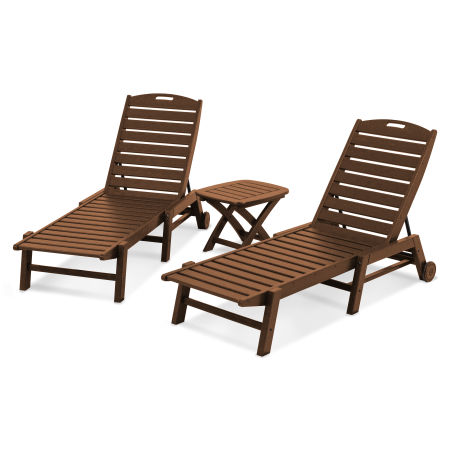 Nautical 3-Piece Chaise Set in Teak