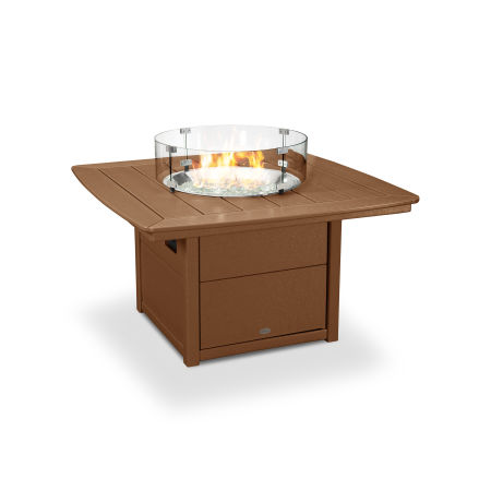 """Nautical 42"""" Fire Pit Table in Teak"""