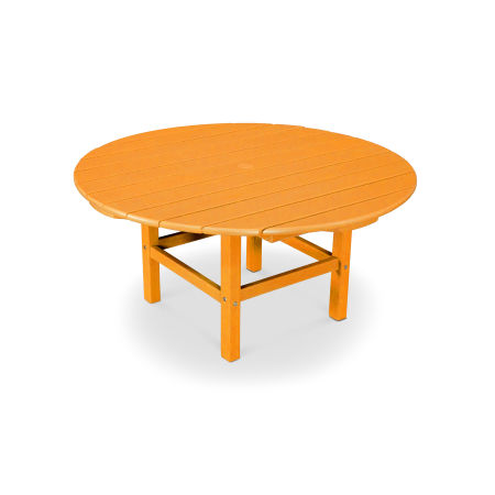 "Round 38"" Conversation Table in Vintage Tangerine"