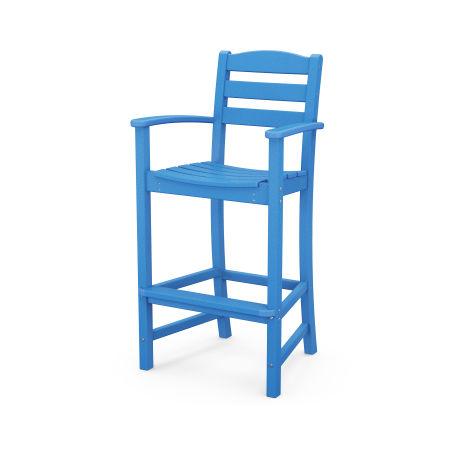 La Casa Café Bar Arm Chair in Pacific Blue