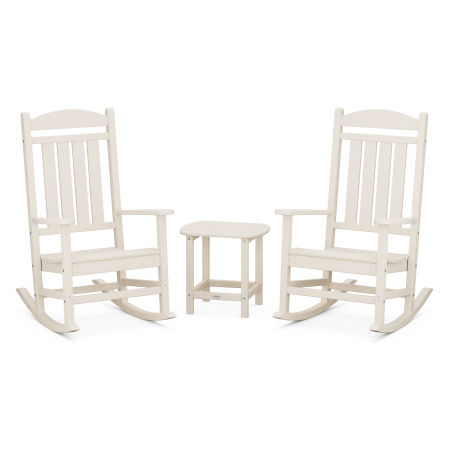 Presidential Rocking Chair 3-Piece Set in Sand