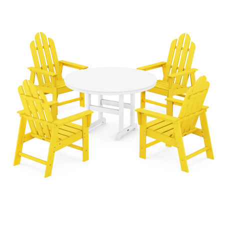 Long Island 5-Piece Dining Set in Lemon