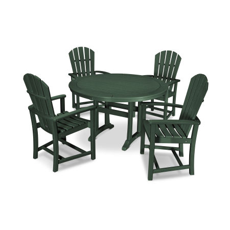 5 Piece Palm Coast Dining Set in Green