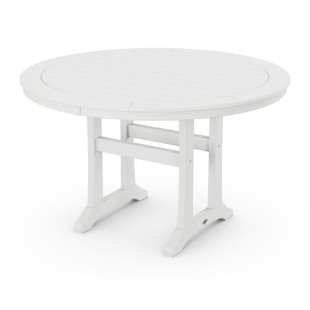 "48"" Round Dining Table in White"