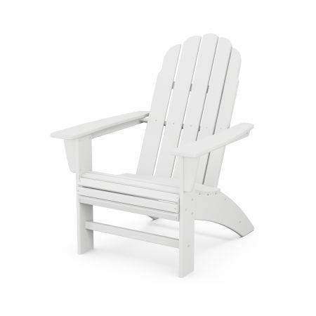 Vineyard Curveback Adirondack Chair in White