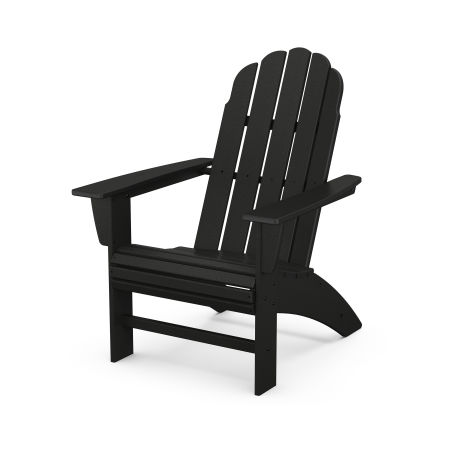 Vineyard Curveback Adirondack Chair in Black