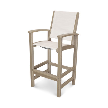 Coastal Bar Chair in Vintage Sahara / Parchment Sling