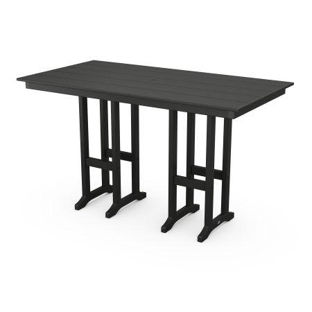 "Farmhouse 37"" x 72"" Bar Table in Black"