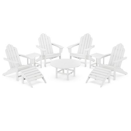 Long Island Adirondack 9-Piece Conversation Group in White