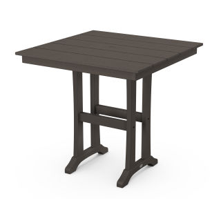 "Farmhouse Trestle 37"" Counter Table in Vintage Finish"