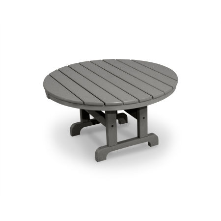 "Classics Round 36"" Conversation Table in Slate Grey"