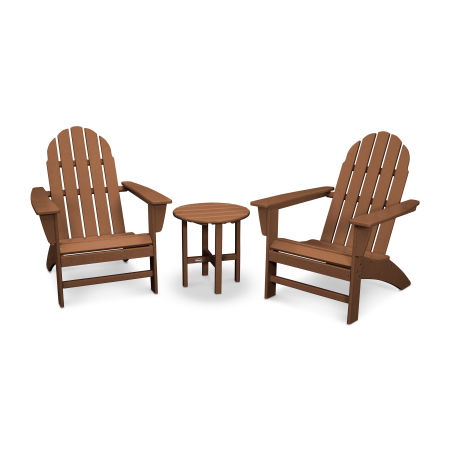 Vineyard 3-Piece Adirondack Set in Teak