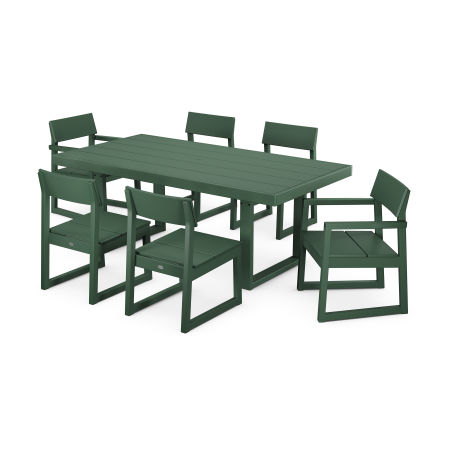 EDGE 7-Piece Dining Set in Green