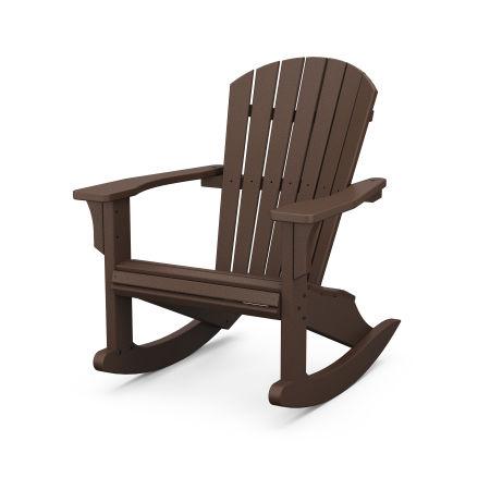 Seashell Rocking Chair in Mahogany
