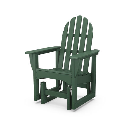 Classic Adirondack Glider Chair in Green