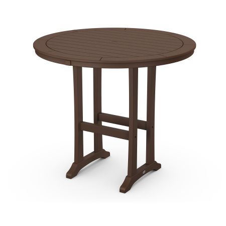 """48"""" Round Bar Table in Mahogany"""