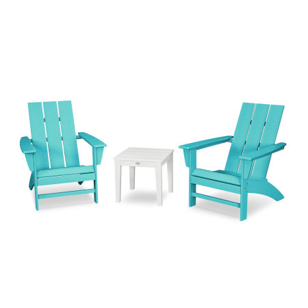 Modern Adirondack 3-Piece Set in Aruba / White