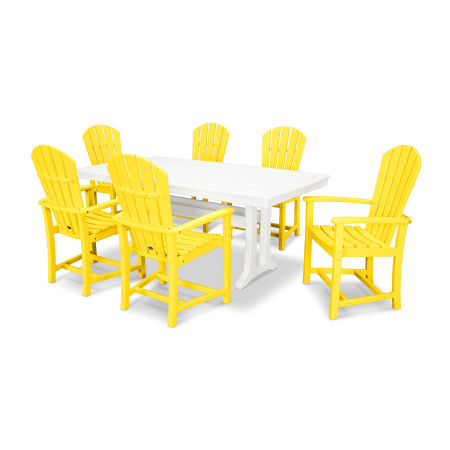 Palm Coast 7 Piece Dining Set in Lemon