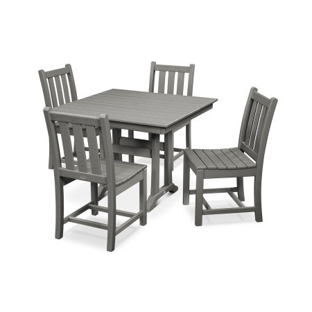 Traditional Garden 5-Piece Farmhouse Trestle Dining Set