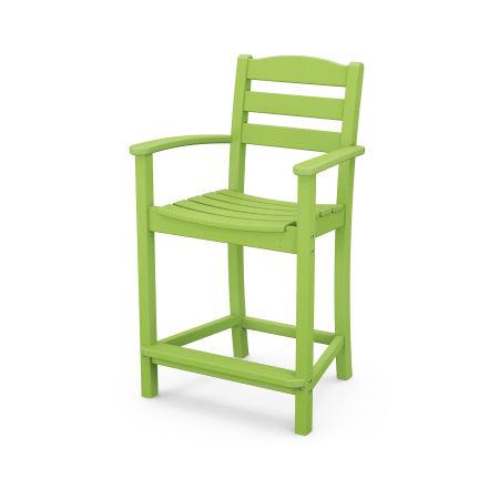La Casa Café Counter Arm Chair in Lime