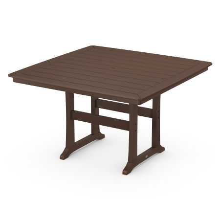"Nautical Trestle 59"" Counter Table in Mahogany"
