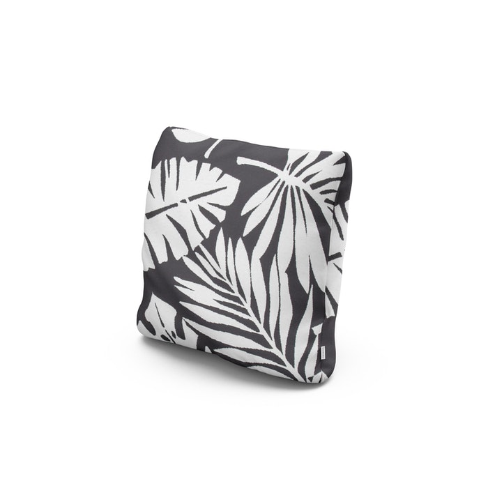 """16"""" Outdoor Throw Pillow in Leaf Carbon"""