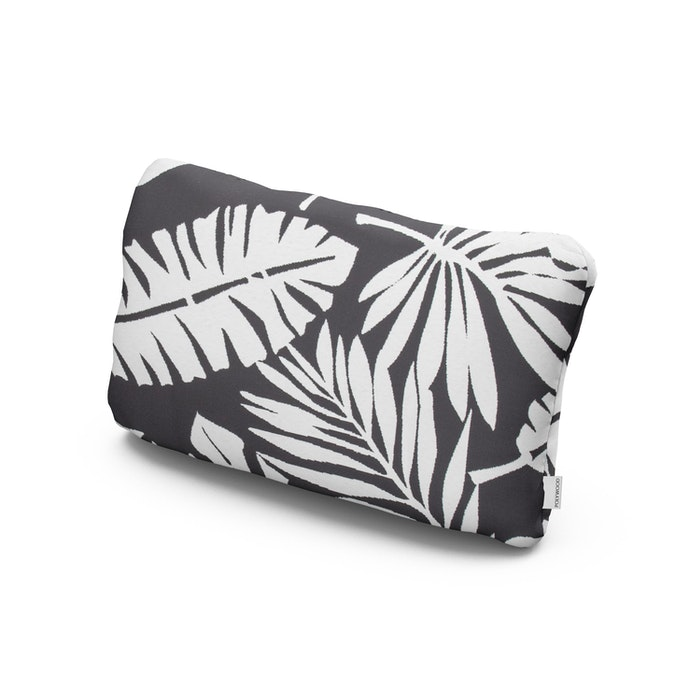 Outdoor Lumbar Pillow in Leaf Carbon