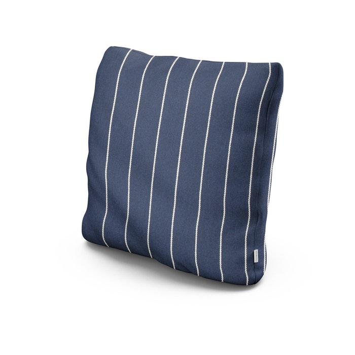"20"" Outdoor Throw Pillow in Pencil Navy"