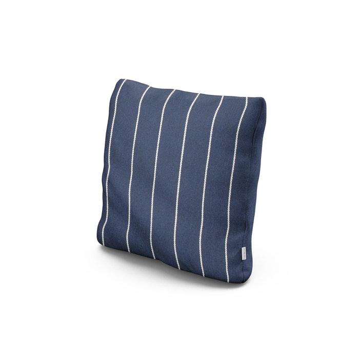 "18"" Outdoor Throw Pillow in Pencil Navy"