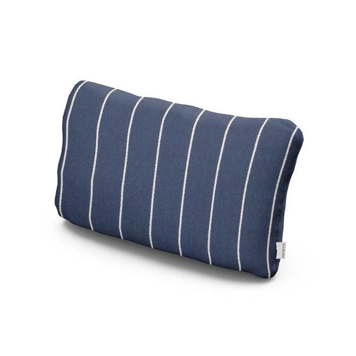 Outdoor Lumbar Pillow in Pencil Navy