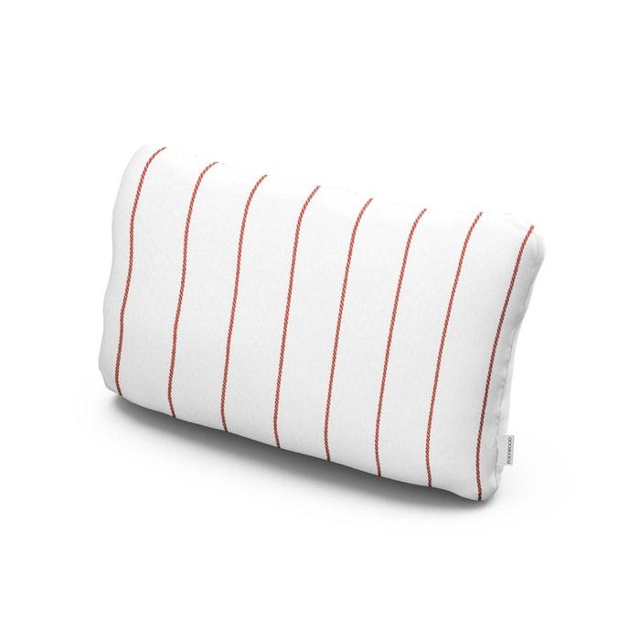 Outdoor Lumbar Pillow in Pencil Poppy