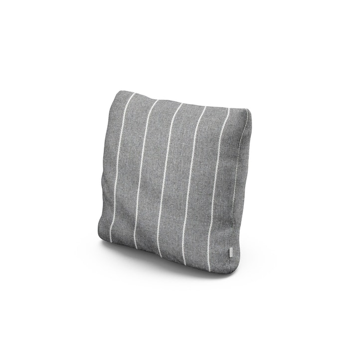 """16"""" Outdoor Throw Pillow in Pencil Pewter"""