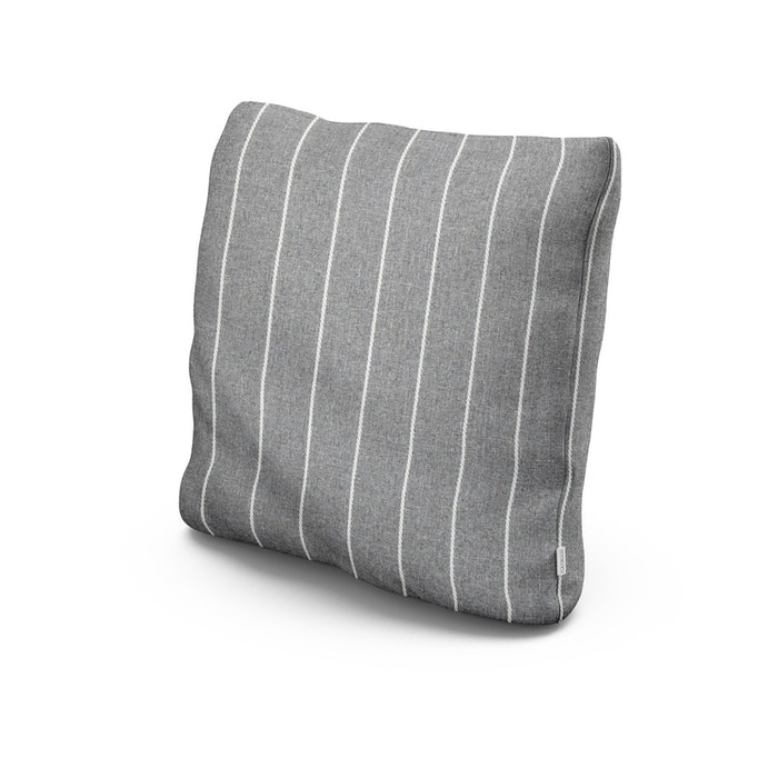 """20"""" Outdoor Throw Pillow in Pencil Pewter"""