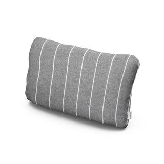 Outdoor Lumbar Pillow in Pencil Pewter