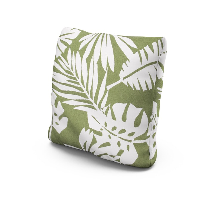 """20"""" Outdoor Throw Pillow in Leaf Chive"""
