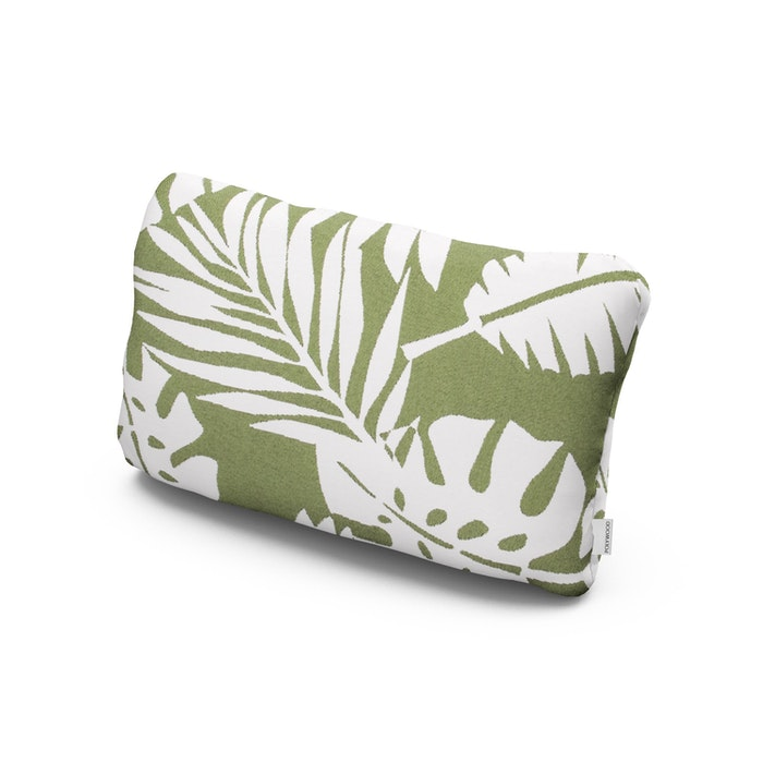 Outdoor Lumbar Pillow in Leaf Chive