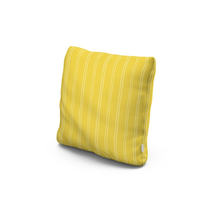 """18"""" Outdoor Throw Pillow in Stitch Canary"""