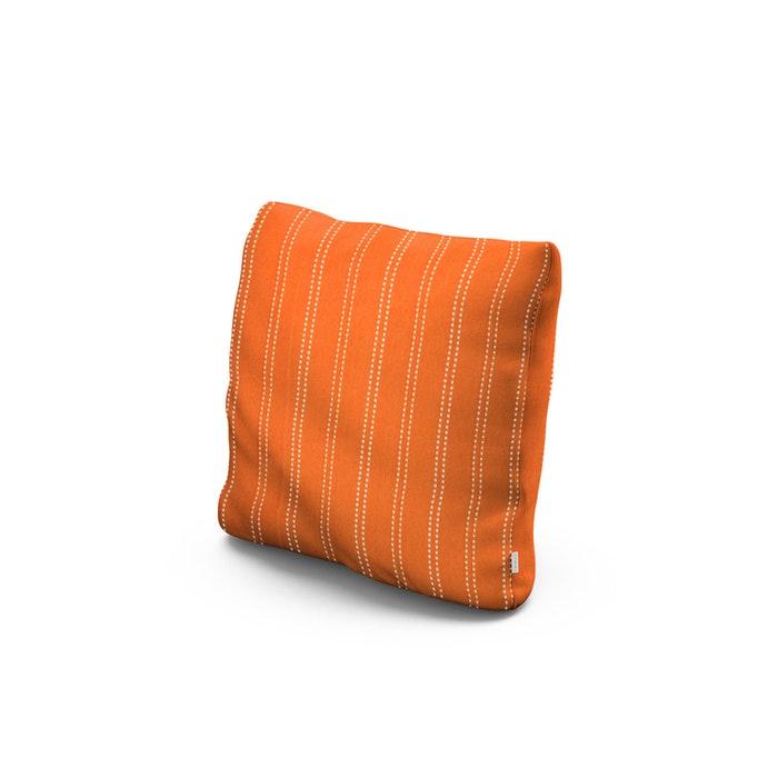 "16"" Outdoor Throw Pillow in Stitch Mango"