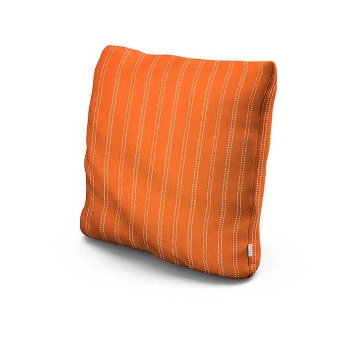 "20"" Outdoor Throw Pillow in Stitch Mango"