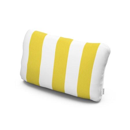 Outdoor Lumbar Pillow in Montdor Canary