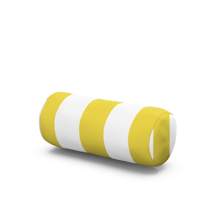 Outdoor Bolster Pillow in Montdor Canary