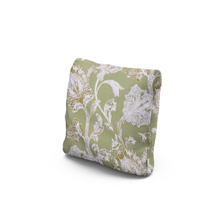 """16"""" Outdoor Throw Pillow by POLYWOOD® in Botanical Gardens Pistachio"""