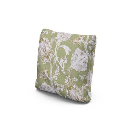 """18"""" Outdoor Throw Pillow in Botanical Gardens Pistachio"""