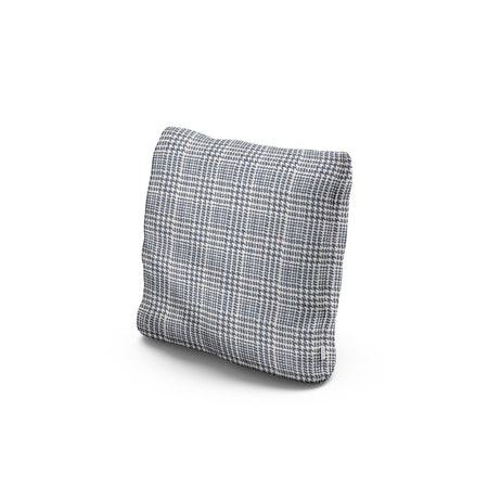 """16"""" Outdoor Throw Pillow by POLYWOOD® in Scottkins Houndstooth"""